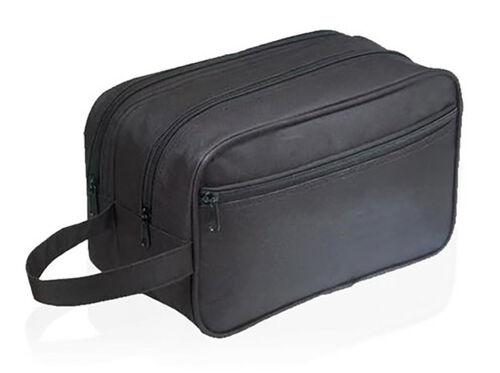 Black Travel Toiletry Bag Men Canvas Utility Accessory Acces