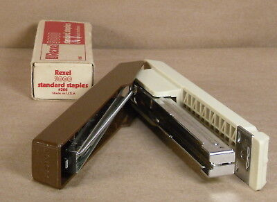 Boston Stapler Model 55 - Product Of Taiwan - Vintage Wstaples Brown And Tan