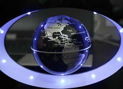 Magnetic Levitation Floating Globe World Map O Shape LED Light Home Decor - Decorative World Globe