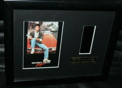 BEVERLY HILLS COP GENUINE SINGLE FILM CELL FRAME WITH C.O.A EDDY MURPHY