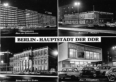 Hauptstadt Vier (AK, Berlin - Hauptstadt der DDR, vier Nachtaufnahmen, 1972)