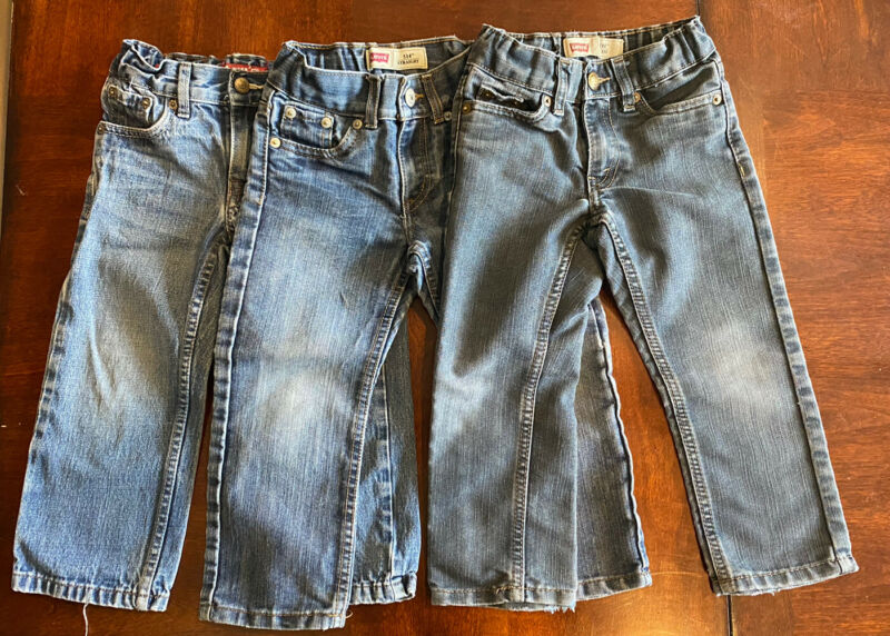 Lot of 3 size 3T Levis 511 Toddler Jeans with adjustable waist boys