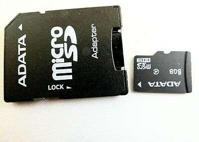 Adata 8GB Micro SD Adapter + SD Digital media memory card      Free Shipping USA