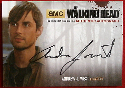 THE WALKING DEAD - ANDREW J WEST, Gareth - AUTOGRAPH CARD AJW2 - Cryptozoic