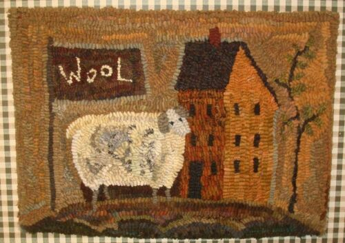 WOOL INN  ~  PRIMITIVE  DESIGN ~ LINEN RUG PATTERN