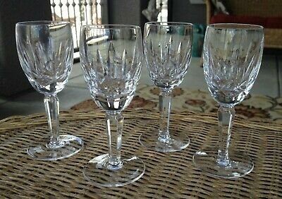 4 Lot Waterford Crystal Kildare Sherry Glasses Set 5.25