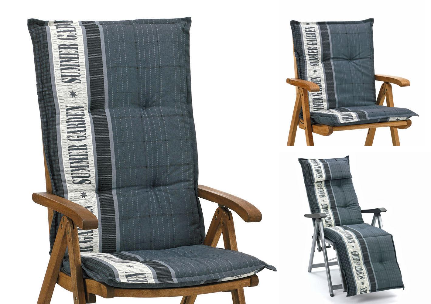 Gartenmöbelauflagen für Sessel Niedriglehner Hochlehner Relaxliegen Stuhl Kissen