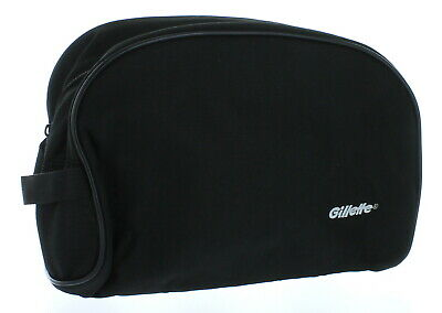 Black Gillette Men's Travel Bag Toiletry Shave Case Bag Dopp