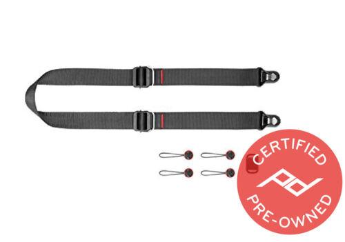 Peak Design Slide Lite Camera Strap V3 (Black) - Lifetime Warranty PD Certified