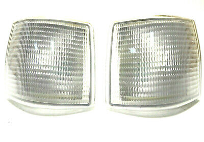 For AUDI 80 1985-86 front White signal indicator lights lamp assembly set LH+RH