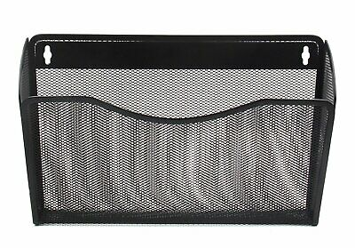 Easypag Mesh Collection Wall File Pocket Holder Organizer Metal For Officeblack