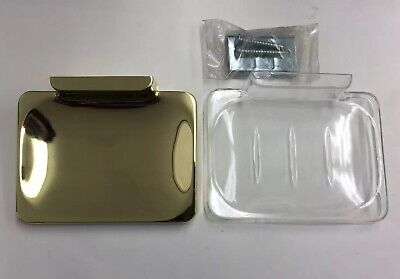 Brass Wall Mount Soap Dish - Gold Polished Brass Bathroom Accessory Soap Dish Holder Wall Mount