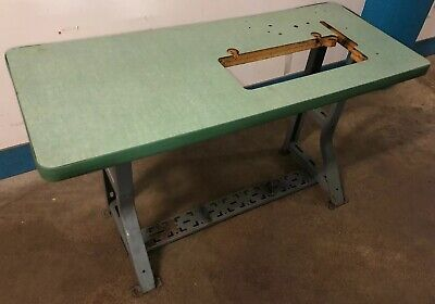 Vintage Singer Industrial Sewing Machine K-leg Table And Top. Our 2