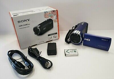 Sony Handycam HDR-CX240L Video Camera 2.7-Inch LCD Blue OPEN BOX FREE Shipping🚀