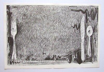 "JASPER JOHNS ltd ed original vintage lithograph, 18 x 12"" MoMA 1967 Pop Art"