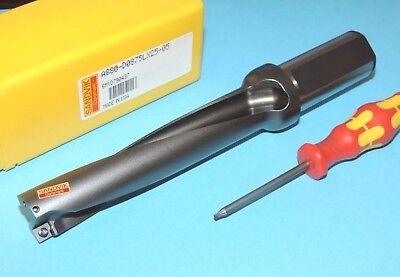 New Sandvik Corodrill .875 Indexable 5xd Drill A880-d0875lx25-05