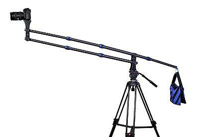 Portable Mini Carbon Fiber Camera Crane Jib Arm Crane only 1.8kg 2m extention