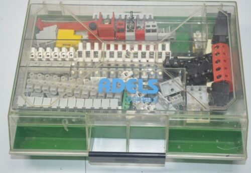 Adels Contact Large Lot of Various Terminal Block Contacts in Case