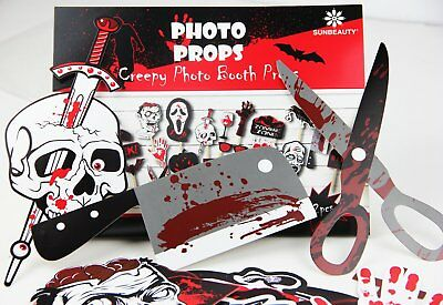 Scary Halloween zombie Photo Booth Stick Props DIY Kit Funny Photo Booth - Halloween Prop Diy