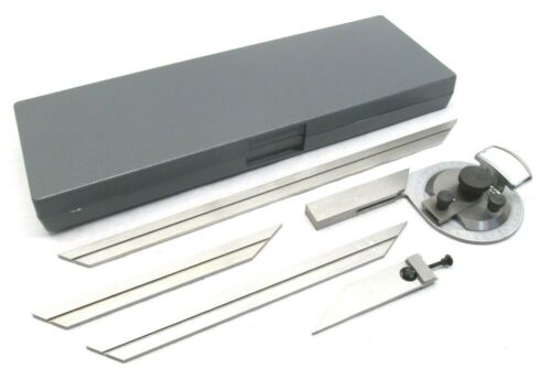 NEW! IMPORT VERNIER UNIVERSAL BEVEL PROTRACTOR SET