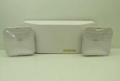 Simkar Semw Twin Head Battery-backup Emergency Light 120277v White