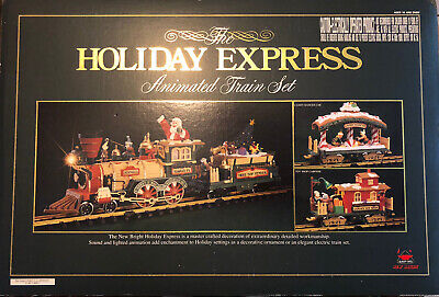 "New Bright Holiday Express Animated Train set's box 380 1996 **""Box Only""**"