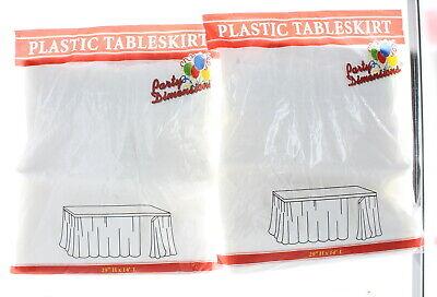 Plastic Table Skirt (Lot of 2 White Table Skirts 29
