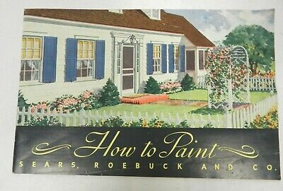 1939 VTG Sears Roebuck CATALOG DECORATING BOOK How To Paint advertising ad