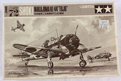 """vintage TAMIYA NAKAJIMA KI-44 """"TOJO"""" 1/72 SCALE  UNASSEMBLED MODEL KIT 97102-500"""