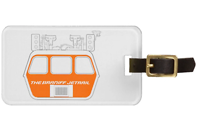 Luggage Tag Personalized Braniff Jetrail Air Coach Multiple Colors - $19.95