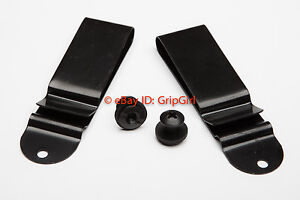 Set-of-2x-Pair-IWB-Black-Clips-Mounting-Hardware-Custom-Hybrid-Kydex-Holster-Kit