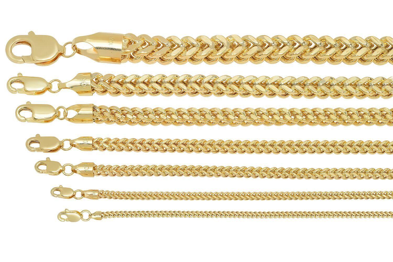brand new 10k yellow gold franco chain