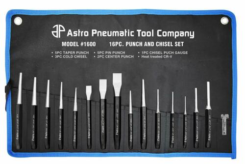Astro Pneumatic Tool 1600 16 Piece Punch & Chisel Tool Set New Free Shipping Usa