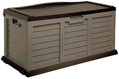 LARGE STORAGE BOX WITH BROWN SIT ON LID, HORSE TACK, STABLE YARD, LOCKABLE