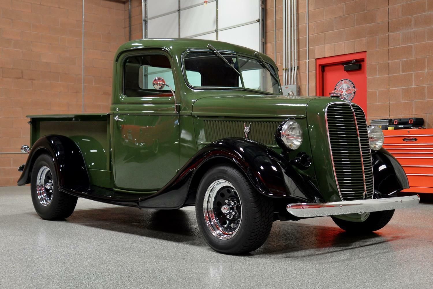 1937 Ford 1/2 Ton Shortbed Pickup RARE Beautifully Restored Absolutely Gorgeous