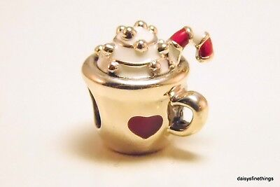 NEW/TAGS  AUTHENTIC PANDORA SILVER CHARM WARM COCOA  #797523ENMX
