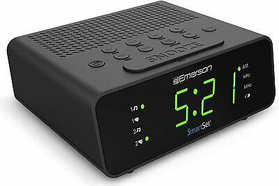 Sleep Timer New Set Alarm Clock Radio with AM/FM Radio Dimmer