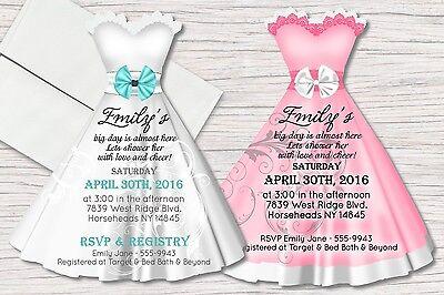 Bridal Shower Invitations, Dress Invitation, Damask Invitations, Fairytale