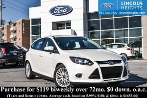2014 Ford Focus TITANIUM HATCH - LEATHER - BLUETOOTH - POWER MOO