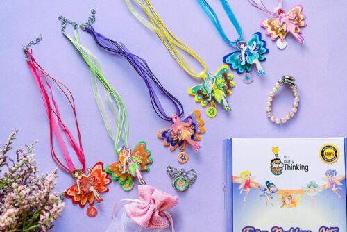 Jewelry Making KIT, DIY Kits for Girls, Kids Crafts Friendship Bracelet Necklace