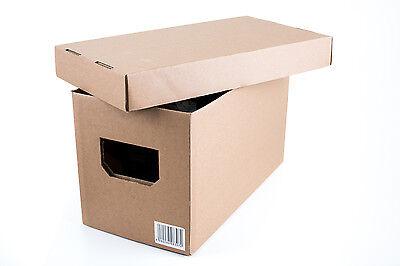Transport, Lager und Aufbewahrungs Karton Box Single Schallplatten Kiste