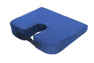 Sloping Bucket Seat Car Cushion with Coccyx Cut Out, Navy