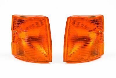 VW Transporter T4 90-03 Orange Front Indicators Repeaters Set Pair Short Nose