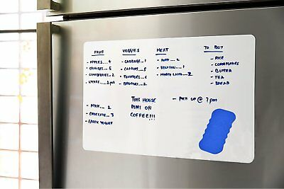 17 X 12 Dry Erase Magnetic Refrigerator Board Flexible Message Organizer White