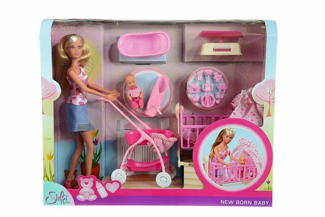 Simba 29cm Steffi Love New Born Baby Set Doll