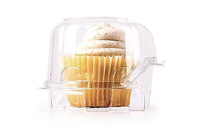 Individual Cupcake Boxes Containers Single 48 Pack Clear Plastic - Individual Cupcake Boxes