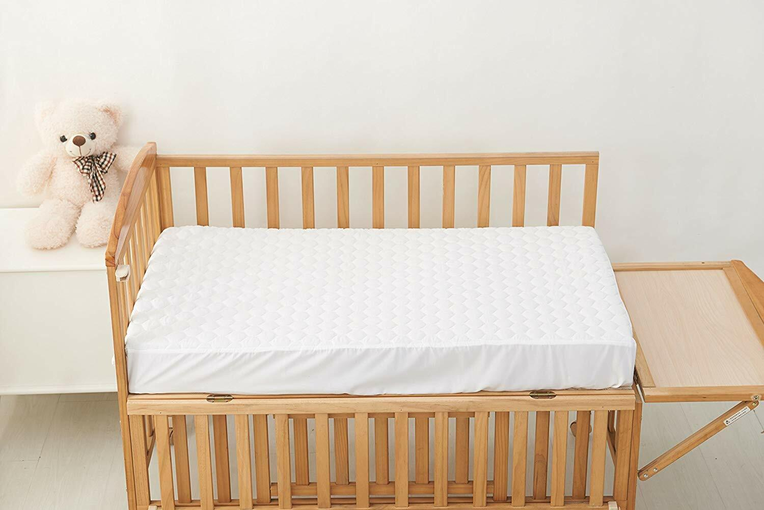 100% Waterproof Fitted Crib and Toddler Protective Mattress