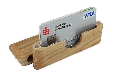 Hochwertiges Visitenkartenetui und Kreditkartenetui | Holz - Eiche | Germany