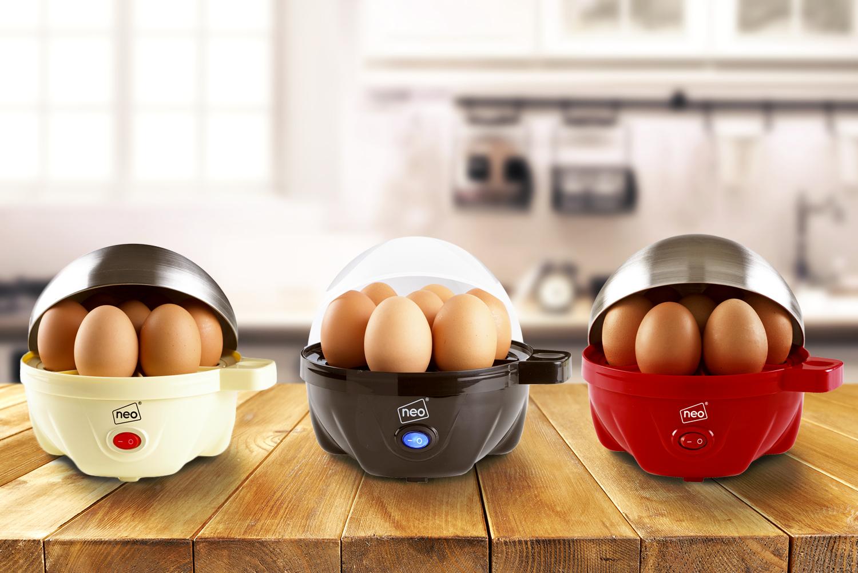 NEO ELETTRICO uova fornello BOILER bracconiere & Pentola a vapore per 7 uova