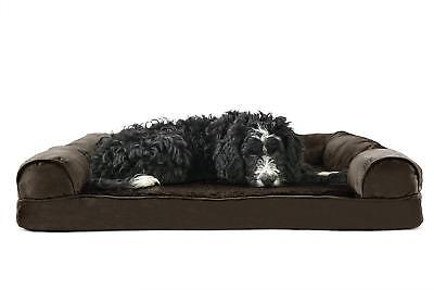 NEW Large Size Pet Dog Bed Orthopedic Ultra Plush Soft Sofa Couch Brown Luxury